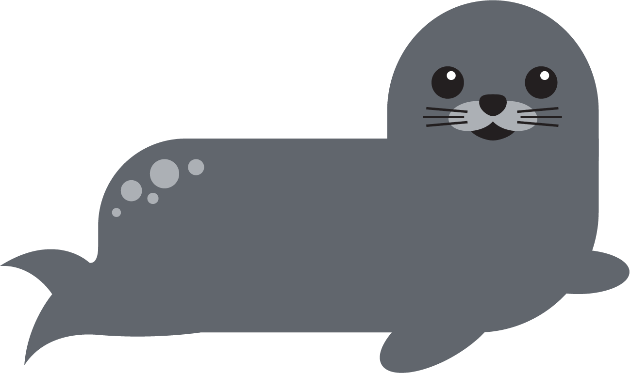 PA20 Mascot Sammy the Seal - click to find the best seal-spotting spots on the Isle of Bute!